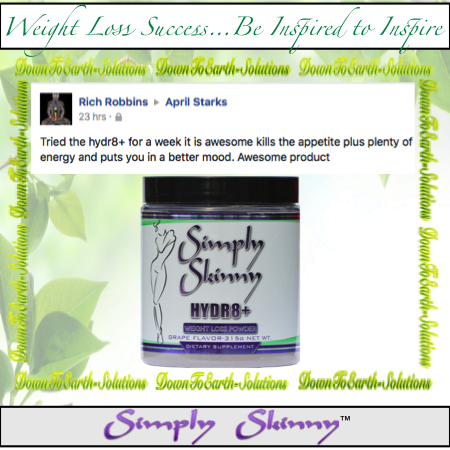 Down To Earth Solutions; Simply Skinny Hydr8+